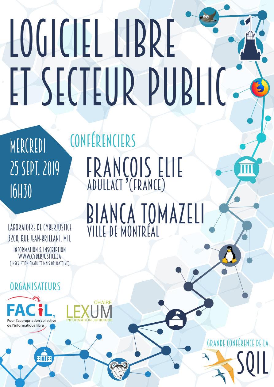 Grande conférence de la SQiL 2019 sur le logiciel libre et le secteur public
